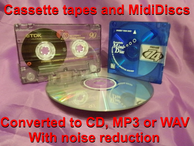 Convert your cassette tapes and MiniDiscs to MP3, WAV and/or CD