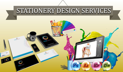 Design Your Complete Business Stationary + Original Files + Free Fevicon Icon