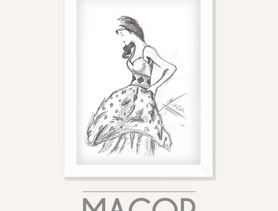 Do a beautiful fashion illustration