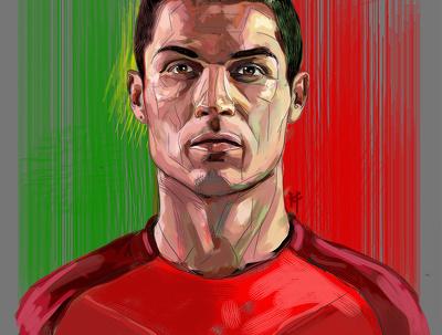 Paint your portrait in your favourite teams kit.