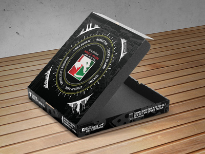 Design pizza box for your fast food business.