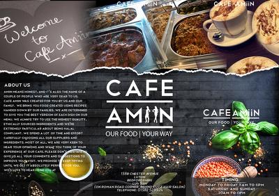 Design restaurant/bar/cafe menu card - double sided/tri fold/single fold