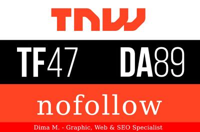 Publish a guest post on The Next Web - TheNextWeb.com, DA89, PA91