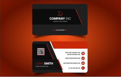 Design a modern and sleek business card for your business