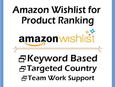 do 400 Amazon Wishlist for Product Ranking