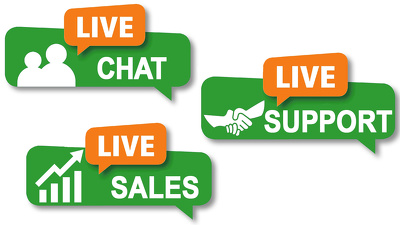 provide 1 hour of live chat support on your website