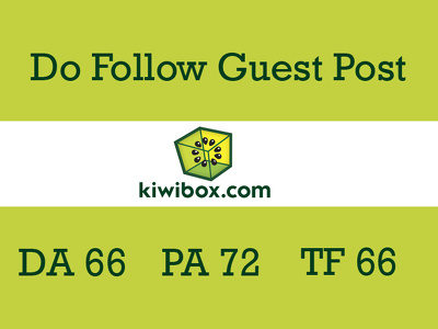 Publish a guest post on Kiwibox with dofollow link