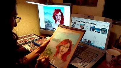 Paint custom oil pastel portrait or landscape painting