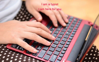 Provide 1 hour of copy typing support