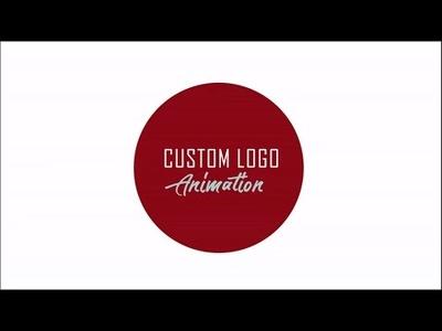Create a custom logo animation