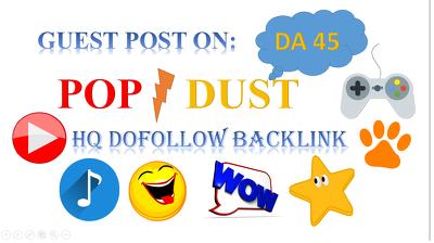 Publish Guest Post On Popdust DA 45