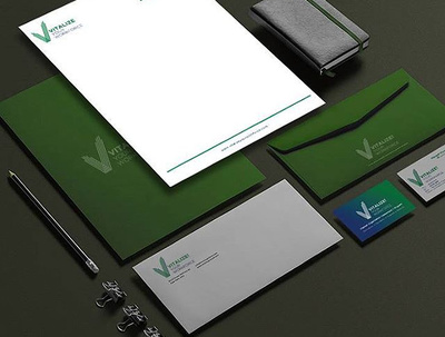 Design a corporate brand identity including Logo+Business card+Letterhead+Favicon