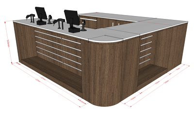 Design Specialist Retail/Reception/Service Counter in 3D Sketchup