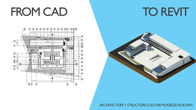Develop a Revit model from CAD drawings