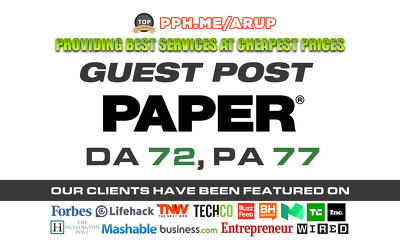 Guest post on PaperMag | PaperMag.com | DA72 PA77 TF 64 CF 52 with do-follow link