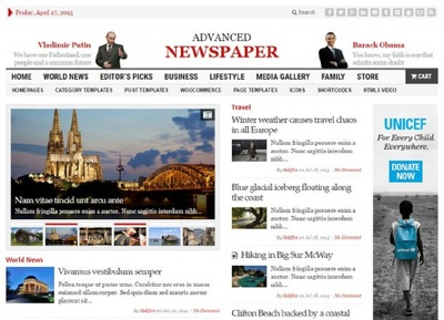 Design woo commerce ready Newspaper wordpress news site for news updates