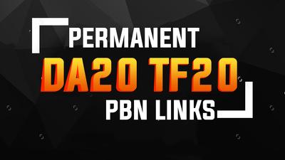 5 Permanent PBN SEO Links ( DA20+ & TF 20+)