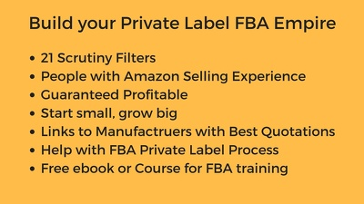 Research five  private label products opportnities for Amazon