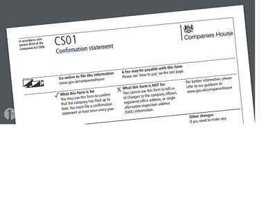 Submit Confirmation Statement (Formerly Annual Return) to Companies House