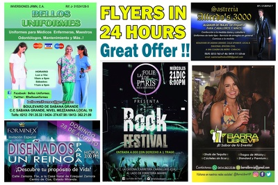I can design your flyer in 24 hours, eye-catching, for any occasion or business.