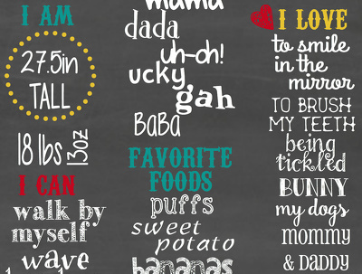 Create a font-only chalkboard poster