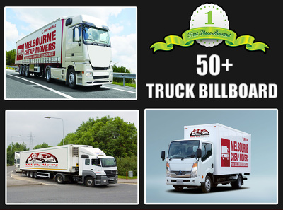 Make TEN truck billboard advertisement of your logo,image or text