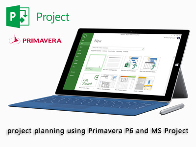 Do project planning using Primavera P6 and MS Project