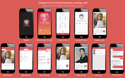 Provide a tinder like Dating App UI for android and iOS