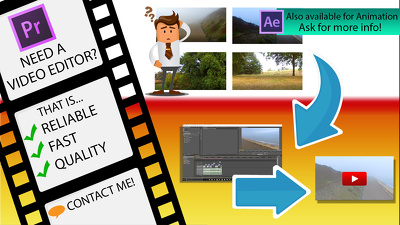Edit footage using professional software between 1 - 2 days including promos