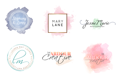 Design a Premade Watercolour Logo