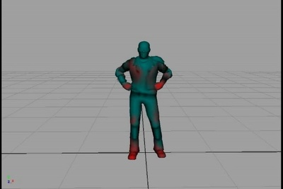 Animate an in-game character loop for