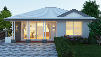 Create a high quality and realistic 3D exterior rendering