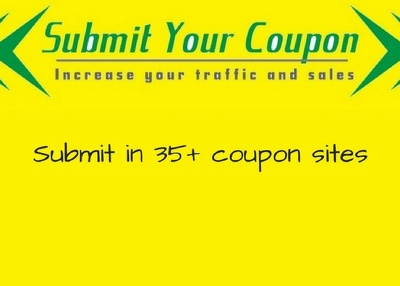 Submit your coupon code manually in top 35 coupon sharing sites