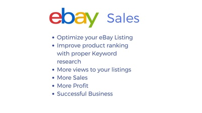 Optimize and improve 50 of your eBay listings