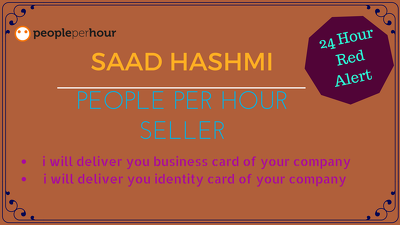 Design your  business card or identity card  of your company