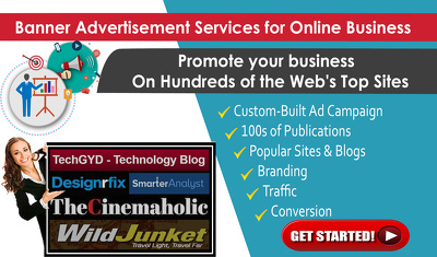 Publish Banners on Very High Traffic Websites & Blogs