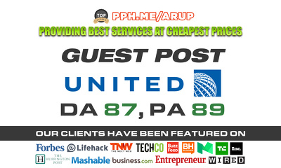 Guest post on United | United.com | DA87 PA89 TF 66 CF 56 with do-follow link