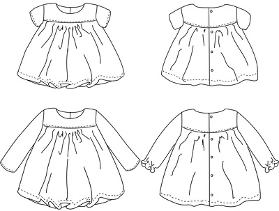 Sketch a garment/accessory design for Kidswear