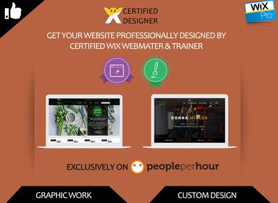 Design professional wix website