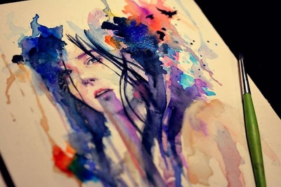 Do creative watercolor drawing for you
