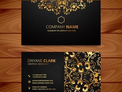 Design dark elegant visiting|Business|corporate card for you | Best ever design