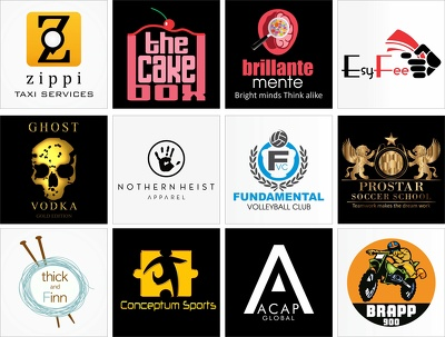 Design your eye catching logo with 3 concept and including all quality work