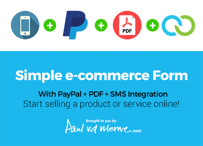 Create a form to sell your product or service using PayPal