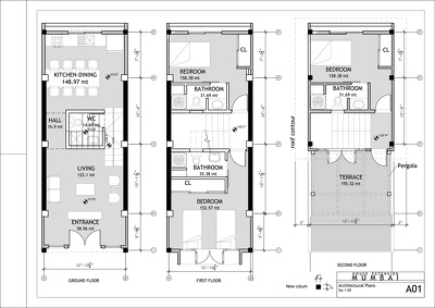 Create an architectural plan drawing in Revit Architecture
