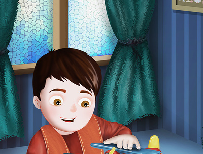 Create a single childrens book illustration