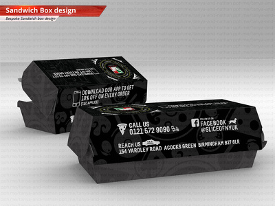 Design a sandwich box / hot dog box for your fast food business