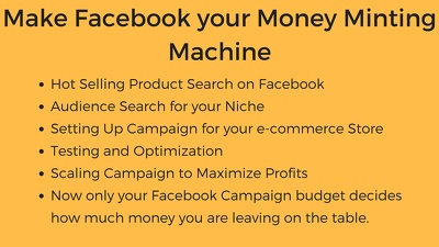 Set up, optimize and automate your Facebook Marketing campaign for e-commerce
