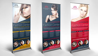Professional Pull Up / Roll Up Banner Design With Unlimited Revisions