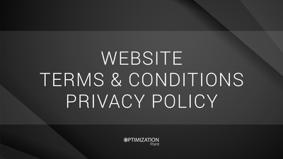 Write your website terms & conditions and privacy policy