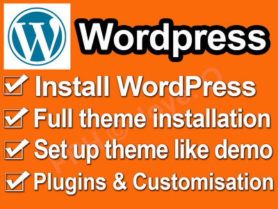 Install a Wordpress theme and set up a demo for you